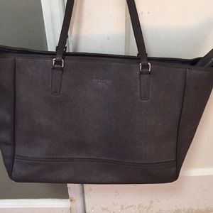 Large dark brown /black coach purse